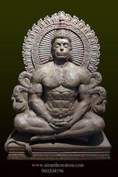 Lord Ganesha Paintings, Ganesha Art, Krishna Art, Hanuman Photos, Hanuman Images, Temples, Hanuman Ji Wallpapers, Lord Rama Images, Ganesh Lord