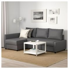 IKEA - FRIHETEN, Sofa-bed, Skiftebo dark gray, Easily converts into a bed. Large practical storage space under the seat. Cama Ikea, Ikea Vimle, Ikea Friheten, Friheten Sofa Bed, Ikea Landskrona, Ikea Sofas, Ikea Sofa Bed, Ikea Family, Sleeper Sectional