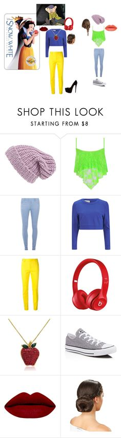 """""""Modern day Snow White & Dopey"""" by pinklovebooks ❤ liked on Polyvore featuring Phase 3, WearAll, Dorothy Perkins, Lavish Alice, Dsquared2, Beats by Dr. Dre, Christian Louboutin, Amanda Rose Collection, Converse and modern"""