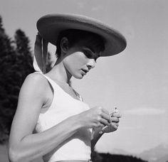 Audrey Hepburn in Bürgenstock Switzerland,1954
