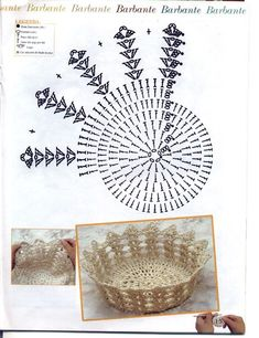 Christmas Crochet Patterns Part 2 - Beautiful Crochet Patterns and Knitting Patterns Crochet Diy, Vase Crochet, Diy Crochet Basket, Beau Crochet, Crochet Dollies, Crochet Basket Pattern, Crochet Chart, Filet Crochet, Crochet Motif