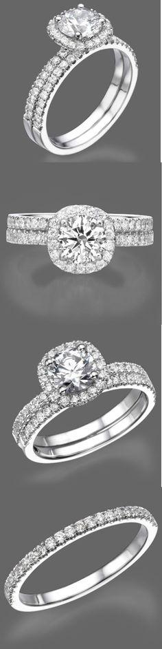 Diamonds and Gemstones 92909: 2 Carat Round Cut Diamond Engagement Ring Set F/Si 14K White Gold Enhanced -> BUY IT NOW ONLY: $2647.27 on eBay!