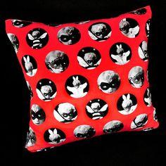Nursery Design, Nursery Art, Contemporary Pillow Covers, Red Interior Design, Maximalist Interior, Unicorn Rooms, Rose Shop, Candle Shop, Velvet Cushions