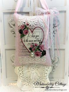 Valentine Love KEEPSAKE Gift Pillow w/matching tag and sachet