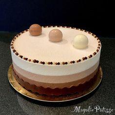 Dessert Three Chocolates to die for! - MagaliePâtisse - Dessert Three Chocolates to die for! Thermomix Desserts, Köstliche Desserts, Plated Desserts, Delicious Desserts, Sweet Recipes, Cake Recipes, Dessert Recipes, Cake & Co, Drip Cakes