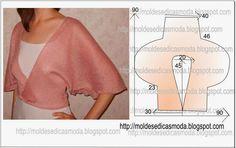 Moldes Moda por Medida: CASACO/CAPA FÁCIL DE FAZER