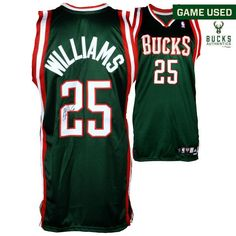 Mo Williams Milwaukee Bucks Fanatics Authentic Autographed Game-Used Green #25 Jersey used during the 2007-2008 NBA Season - Size 44 - $499.99