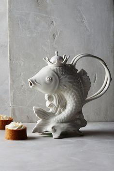 Poisson Tea Set click now for info. Pottery Teapots, Ceramic Teapots, Ceramic Pottery, Tee Kunst, Sugar Bowl, Design Japonais, Tee Set, Teapots Unique, Tea Pot Set
