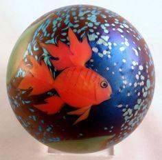 Orient & Flume's Iridescent Goldfish Paperweight