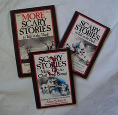 scary stories to tell in the dark three book box set. don't even act like you never read these as a kid before. haha. & sorry in advance if seeing the covers alone has induced any post-traumatic stress issues, as still basically happens to me. those illustrations! <3 via: amazon.com