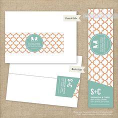 Modern Wrap Around Address Labels  Printable by LingsDesignStudio, $12.00