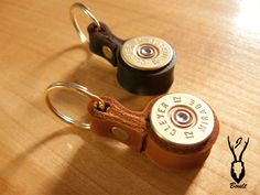 Shotgun Cartridge Keyring in Tan Leather. Luxury gift idea for shooters and beaters - handmade recycled shotgun cartridge keyrings available in two colours. Bullet Shell Jewelry, Shotgun Shell Jewelry, Bullet Casing Jewelry, Ammo Jewelry, Bullet Ring, Bullet Necklace, Diy Jewelry Findings, Washer Necklace, Jewelry Necklaces