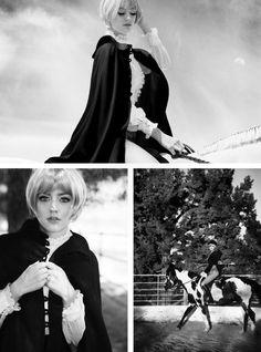 Black capes! Horses! Fall fashion equestrian matchbook magazine