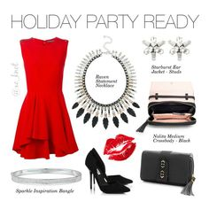 Stella & Dot   Holiday Party Ready   Sparkles, silver, rose gold and matte black feathers! With the Limited Edition Raven Statement Necklace you will be the hit at any party! Shown: Raven Statement Necklace, Sparkle Inspiration Bangle, Nolita Medium Crossbody in Black, Starburst Ear Jacket. Shop www.stelladot.com/lisabreen