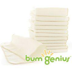 Great cloth wipes!  If you're going to cloth diaper, use cloth wipes, too!  bumGenius Flannel Wipes - 12pk by bumGenius at BabyEarth.com, $11.95