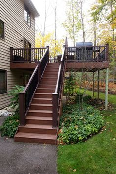 1000 images about deck ideas on pinterest second story for Second story decks with stairs