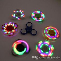 New Design Hot Best LED Light Flash Finger Spinner Fidget Plastic EDC Hand Spinner For Autism and ADHD Relief Focus Anxiety Stress Gift Toys