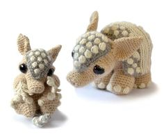 ** This listing is for two Crochet Patterns only NOT finished items. It is a listing for downloadable pdf files with the instructions on how to crochet two armadillos for yourself ** These patterns are only available in the English language. This is Tilda and Earl, the nine banded