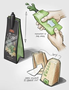 Spoilage-preventing food packaging (2013) on Behance