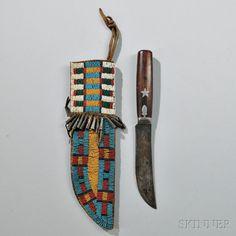 Нож и ножны, Центральные Равнины. 1870 год.