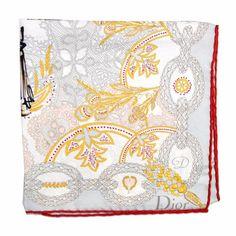c5b2ec1cf Christian Dior Scarf #DiorScarf Silk Square Scarf | Sale Women Designer  #Gold Scarves