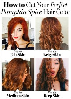 Yes, pumpkin spice hair is a thing—and it's gorgeous. Here's how to pick the right shade of red for you.