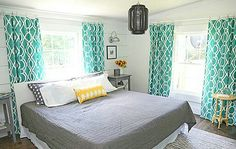 ●Cottage Style - We found a gorgeous cottage-style bedroom at The Shabby Creek Cottage blog that would be perfect for a bedroom makeover. The bright and airy room looks as if it belongs at a seaside cabin, and we particularly love the mix of bold and more muted tones.