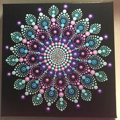 Calmante 505 Mandala su tela meditazione Mandala Dot Art