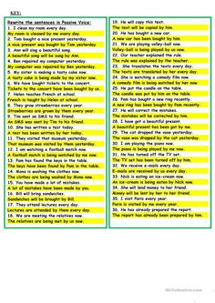 Passive Voice worksheet - Free ESL printable worksheets made by teachers Teaching English Grammar, Grammar Lessons, English Vocabulary, Learning English, Learn English Words, English Study, English Lessons, Active And Passive Voice, Active Voice