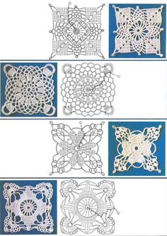 squares #crochet motif #afs collection