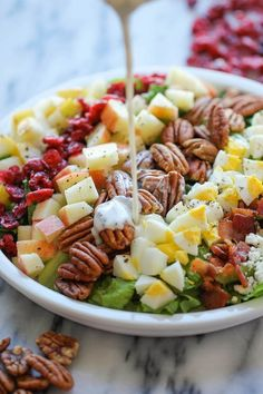 39 Dinner Salads That Will Actually Make You Want To Eat Salad Easy Salad Recipes, Real Food Recipes, Dinner Recipes, Cooking Recipes, Main Dish Salads, Dinner Salads, Healthy Snacks, Healthy Eating, Healthy Recipes