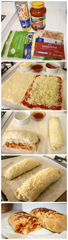 Easy Pizza Roll Ups. This was so easy, quick and good.You can substitute and add ingredients as you please.