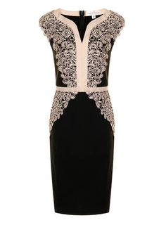 Paper Dolls Black Cream Bodycon dress - Hey Mum, would you like a dress like this? I think it would suit you - looks much nicer on the model than by itself :) cheap too