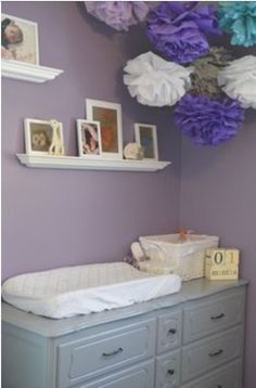 Lavender and gray color combo for laundry room project