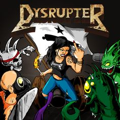 Dysrupter 'Come and Take It'  Album Cover by luvataciousskull.deviantart.com on @deviantART