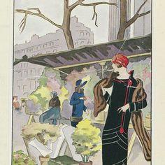 Art - Goût - Beauté, Feuillets de l' élégance féminine, Janvier 1924, No. 41, 4e Année, p. 17: Le Marché aux Fleurs de la Madelein (...), anonymous, 1924 - Rijksmuseum