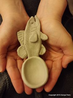 Spoon a Day Challenge, 365 Clay Spoons in 2015: Day 51, Fish Friday