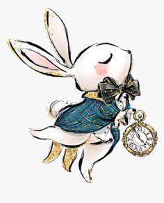 Arte Disney, Disney Art, Chibi Disney, Disney Drawings, Cute Drawings, Tatuagem Lady Gaga, Alice In Wonderland Tea Party, Alice In Wonderland Artwork, White Rabbit Alice In Wonderland
