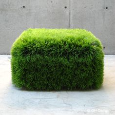 Just doing a little Sunday night internet surf and came across this cool looking grass ottoman by designer Nancy Favier. Dream Garden, Garden Art, Garden Design, Green Furniture, Living Furniture, Furniture Plans, Wood Furniture, Outdoor Furniture, Green Bedding