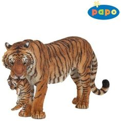Papo Tigress with Cub by Papo. $8.40. 5.51 in L x 1.38 in W x 2.56 in H. The Papo toy line features beatifully crafted figurines and animals. Papo toys come in a wide variety of colors, all hand painted and bursting with imagination. We carry a wide selection for hours of play. Scale 1:20 True to life modeling. Meticulously hand painted figurines.