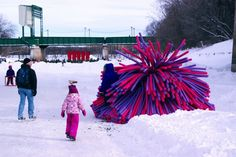 Toronto architecture firm RAW Design have created Nuzzles as their entry to Winnipeg's 2014 Warming Huts Competition.