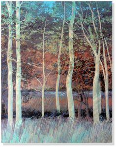 "Don Munz ""Stately Grove"" Original Hand-Pulled Serigraph Ltd. #146/150  29"" x 40"" #Impressionism"