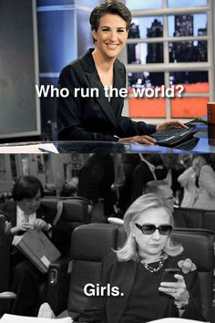 Girl meme chic: Rachel Maddow & Hillary Clinton [Texts from Hillary] . my two favorite ladies Texts From Hillary, Hillary Meme, Leadership, My Champion, Rachel Maddow, Interview, Who Runs The World, Hey Girl, My Tumblr