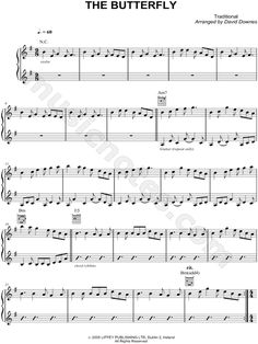 The Butterfly sheet music for tin whistle