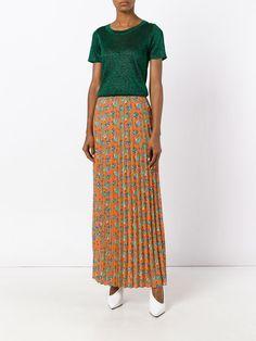 House Of Holland pleated maxi skirt