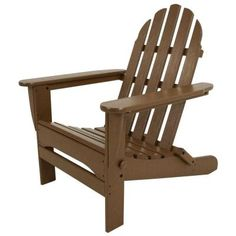 Classic Teak Folding Adirondack Patio Chair