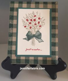 Tutorial: Wishing You Well Card – Buffalo Check - Jennifer Labre Designs