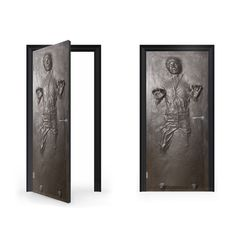DoorWrap: Han Solo in Carbonite Vinyl Sticker by VinylRevolution