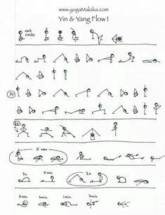 tableaux des postures de yoga avec leurs noms en sanskrit