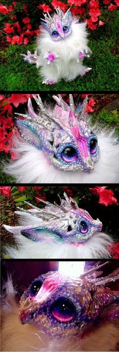 Posable Crystal Wish Dragon by *Wood-Splitter-Lee